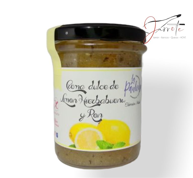 Crema Dulce de Limón, Hierbabuena y Ron - Tarro, 210 gr