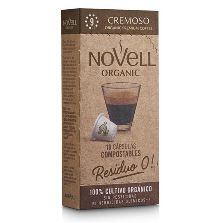 CREMOSO - Cápsulas de café orgánico, compostables y compatibles Nespresso® - 10 uds