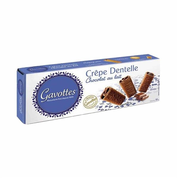 Creps Dentelle bañados en chocolate con leche 90 g Gavottes