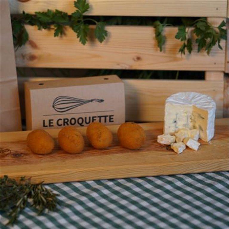 Croquetas ultracongeladas queso azul, 500 gr
