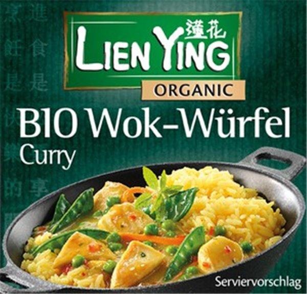 Cubito para wok con curry