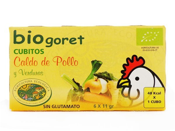 Cubitos de Caldo de Pollo y Verduras