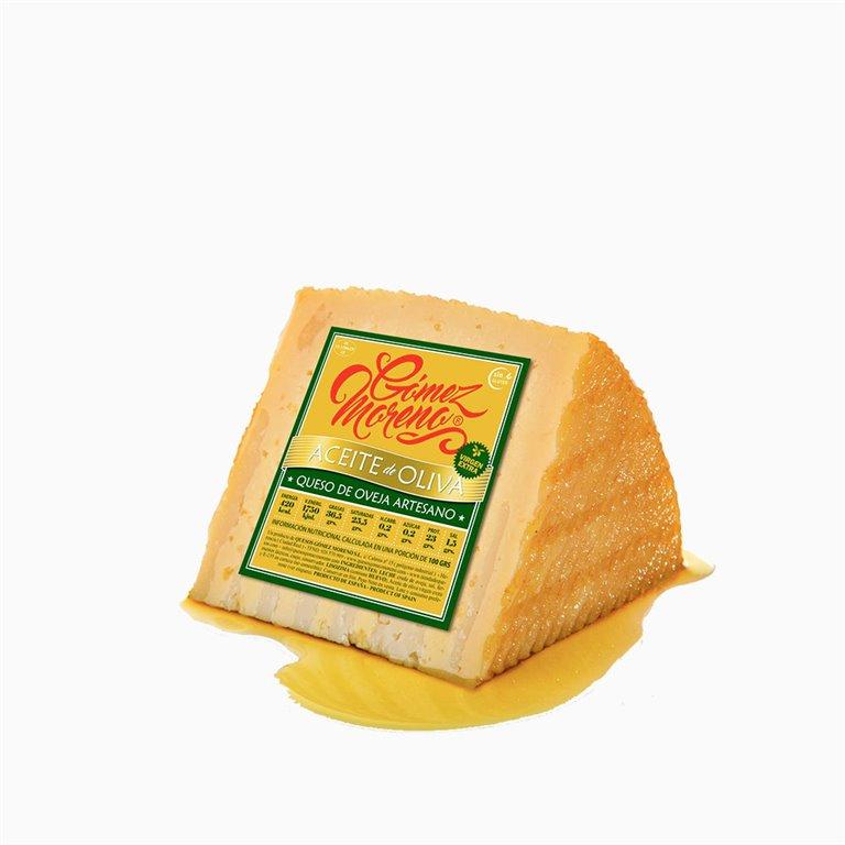 Cuña de queso aceite de oliva Gómez Moreno
