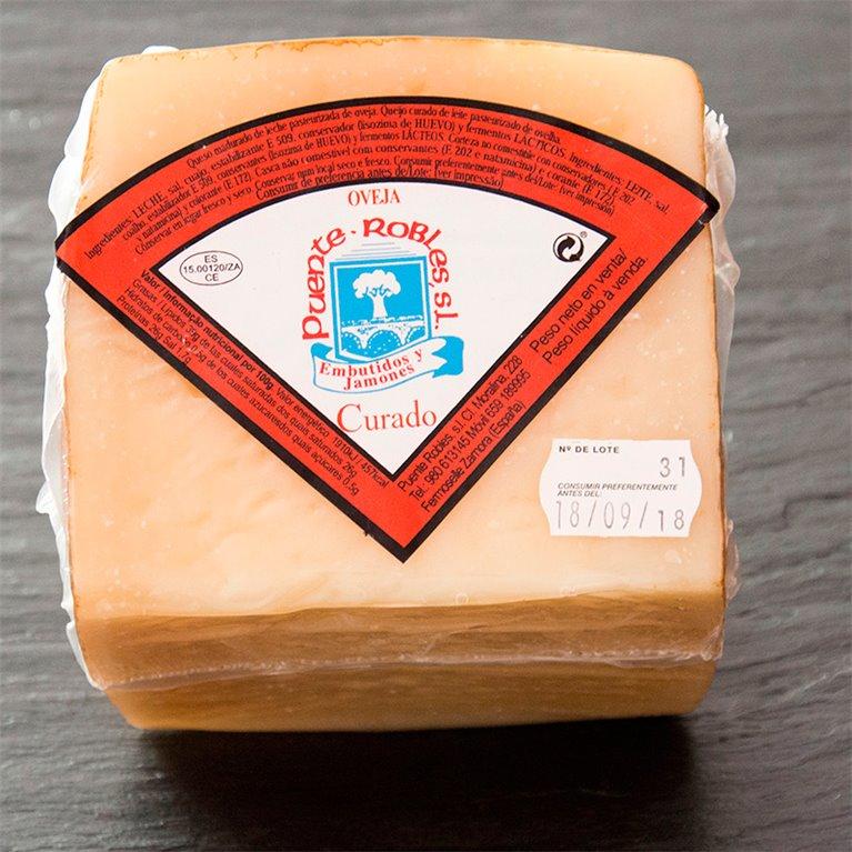 Zamorano cured sheep's cheese wedge