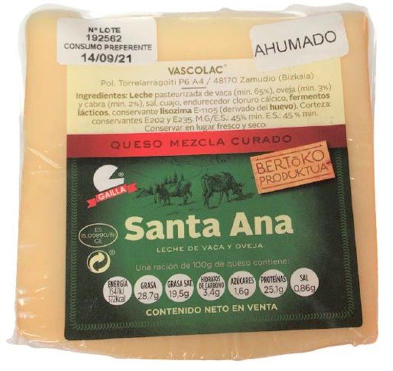"Cuña de Queso Mezcla ""Santa Ana"" Ahumado 275 grs. aprox."