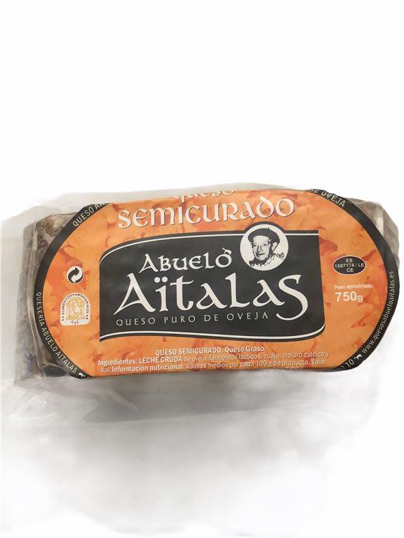 cuña de queso Semicurado artesanal 400gr (aprox.) ABUELO AITALAS