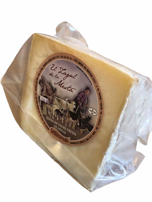 cuña de queso Semicurado artesanal 450 gr (aprox.) EL ZAGAL DE LA MESTA