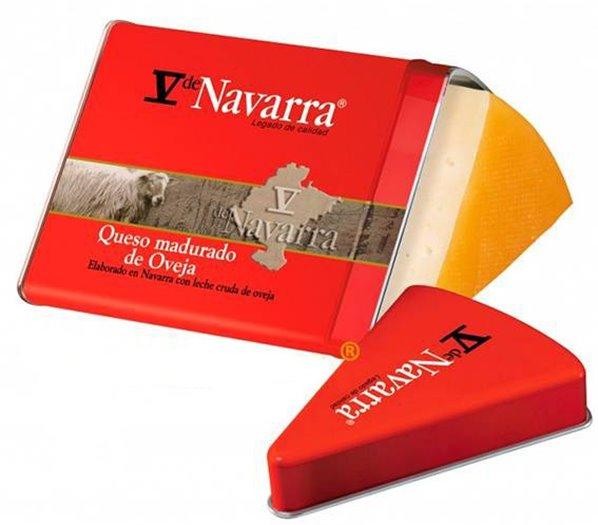 Cuña Queso La Navarra Lata Metálica 250grs