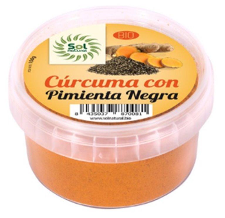 Cúrcuma con Pimienta Negra en Polvo Bio 100g