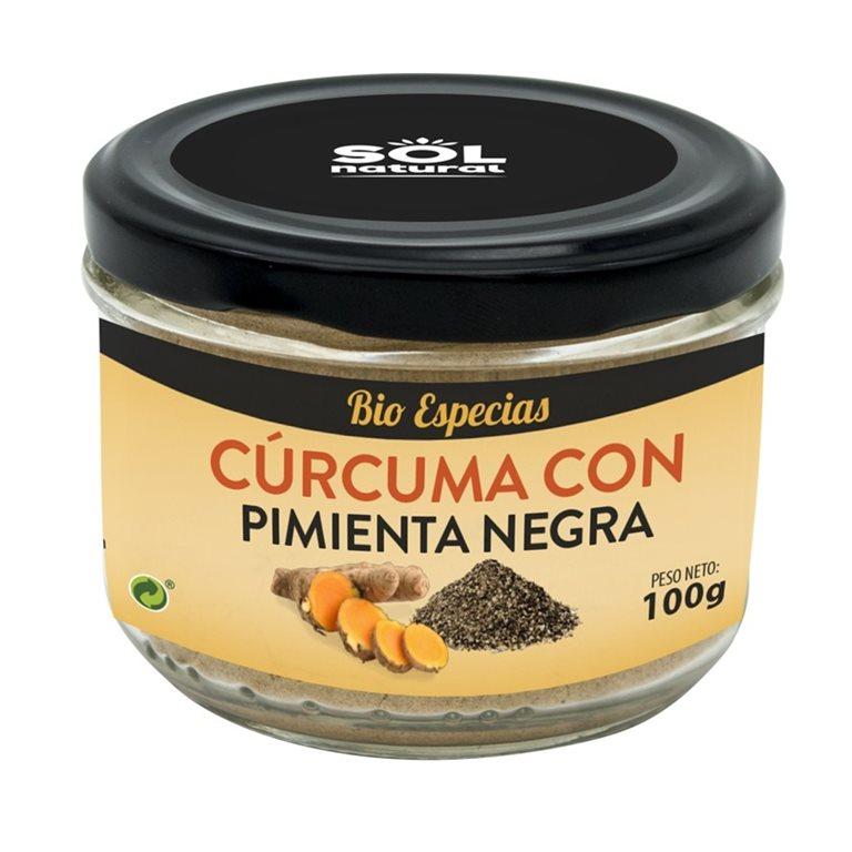 Cúrcuma con Pimienta Negra Molida Bio 100g