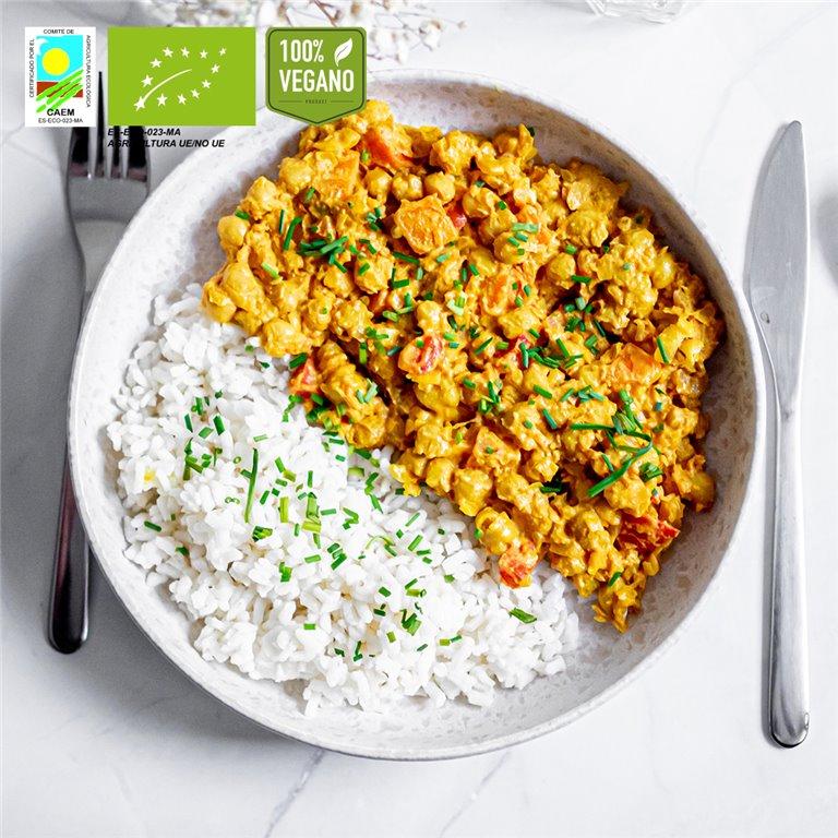 Curry ligero chana-masala BIO de garbanzos