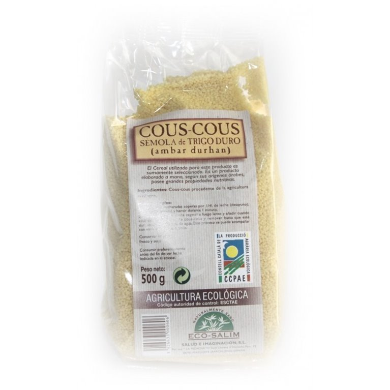 Cuscús Natural Bio 500g, 1 ud