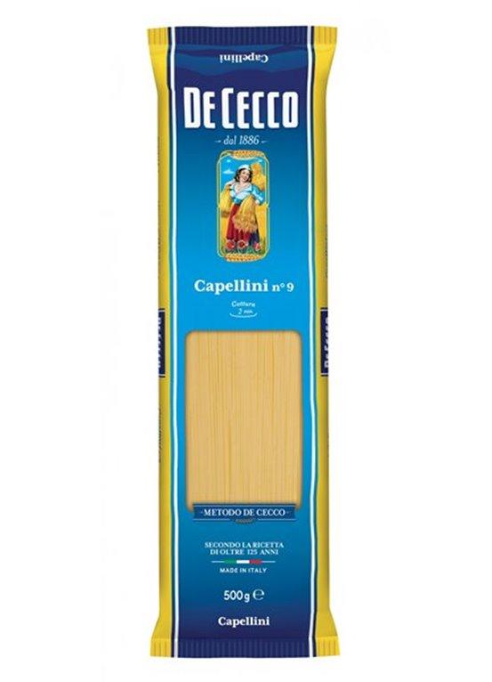 DE CECCO Capellini nº 9 (500 gr), 1 ud