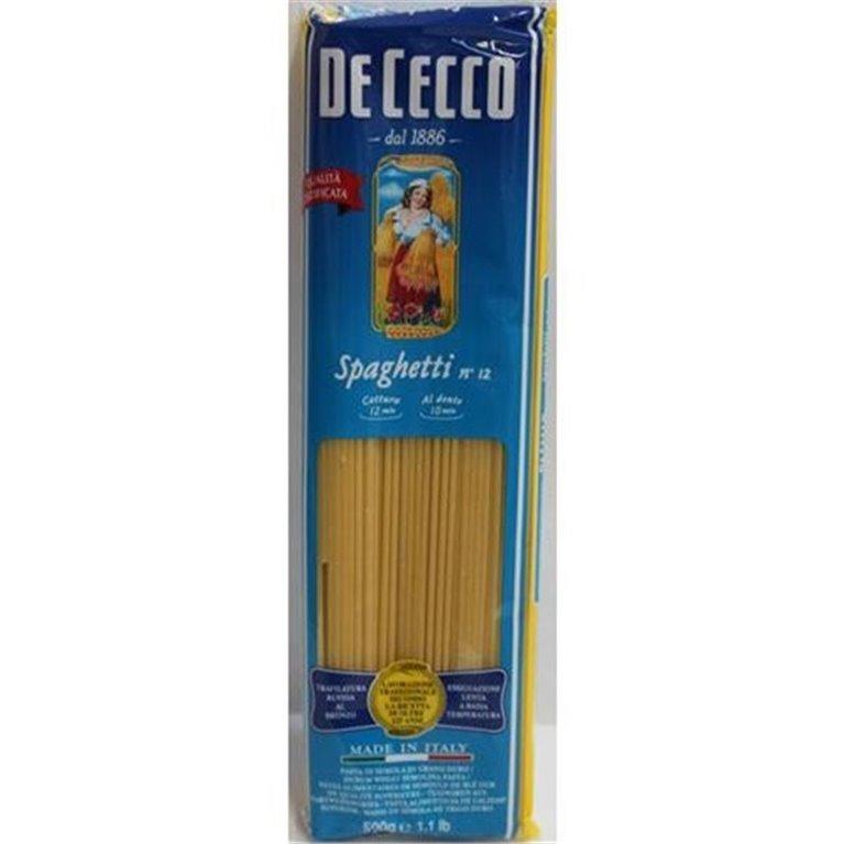 DE CECCO Spaghetti nº 12 (500 gr), 1 ud