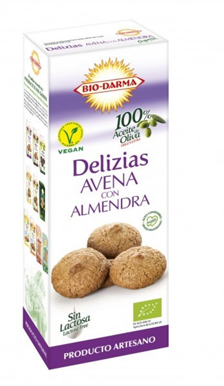 Delicias de Avena con Almendra Bio 125g