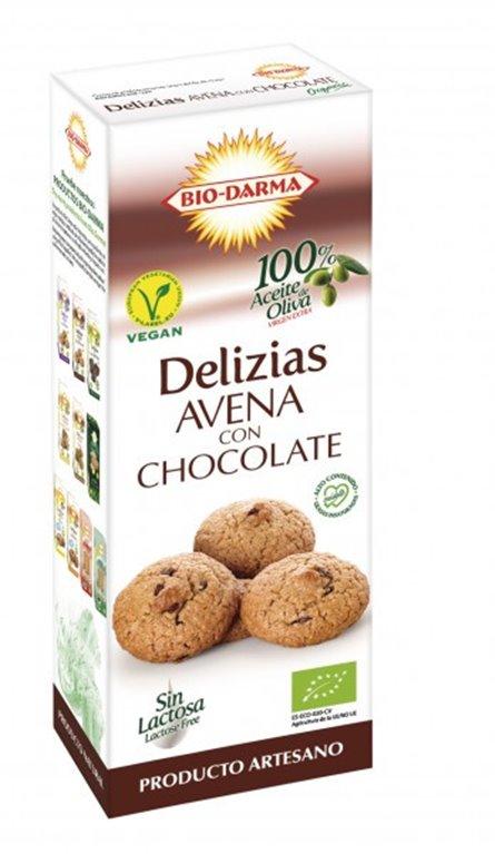 Delicias de Avena con Chocolate Bio 125g