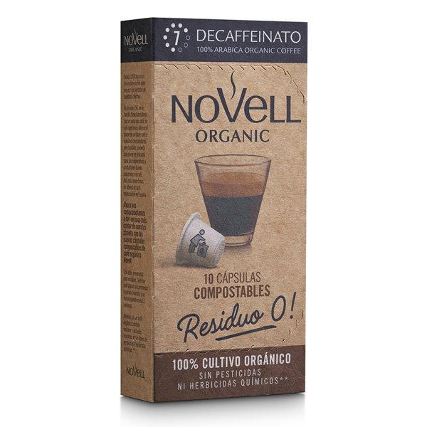 DESCAFEINADO - Cápsulas de café orgánico, compostables y compatibles Nespresso®
