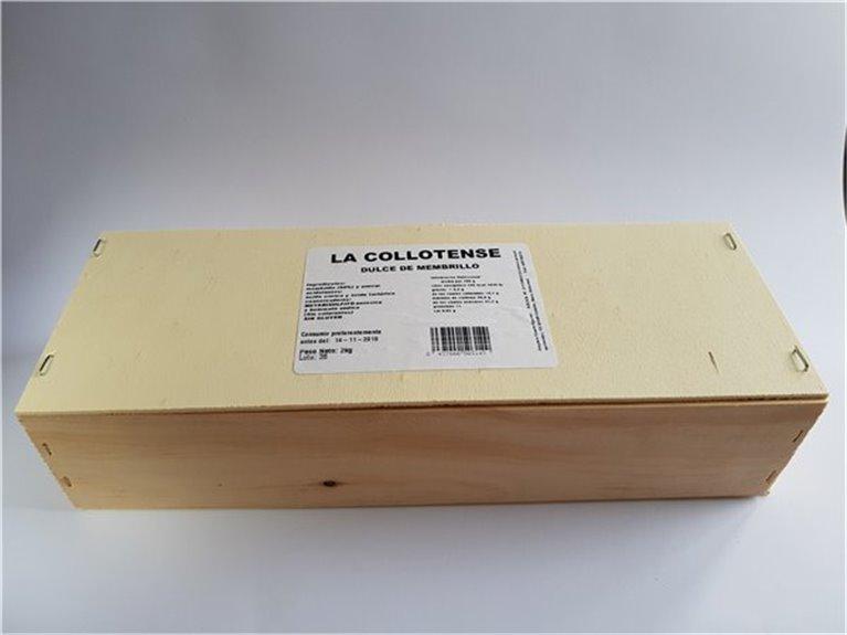 Dulce de membrillo estuche madera 2 Kg