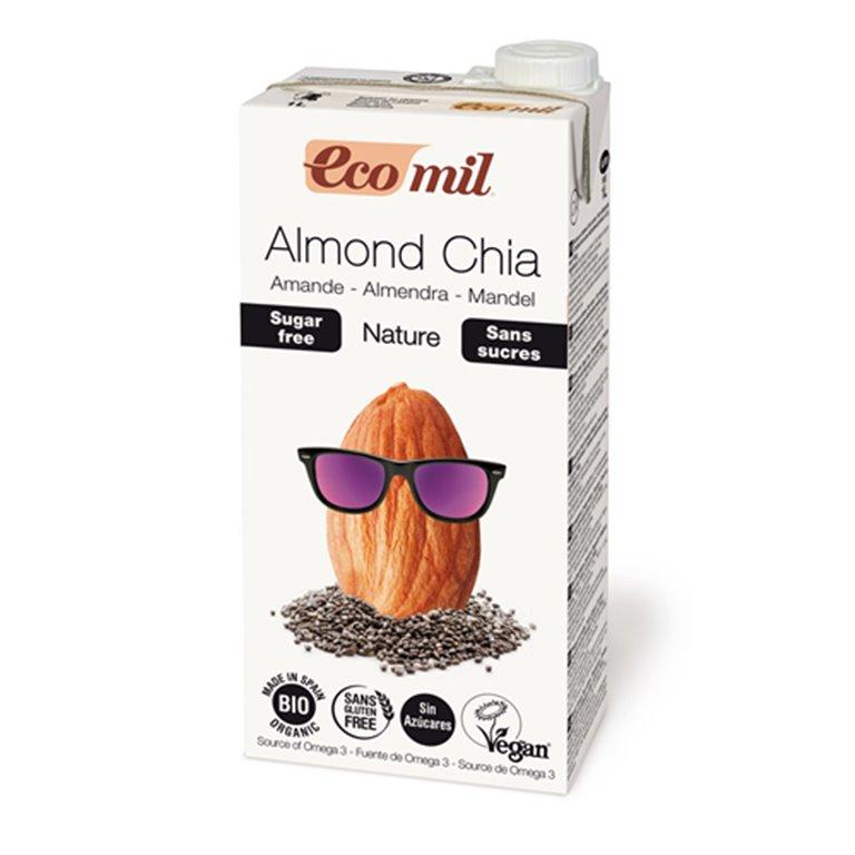 Ecomil bebida de almendra y chía, 1 ud