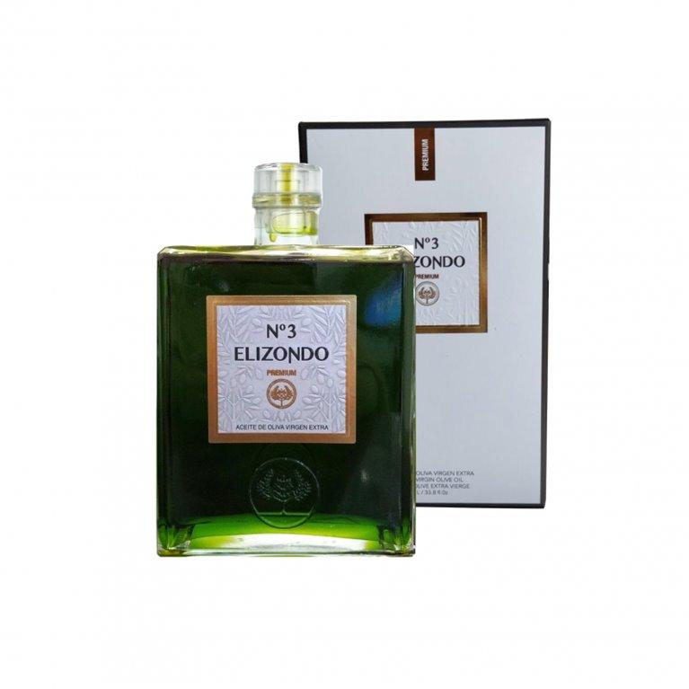 Elizondo N.3. Aceite de oliva Picual. Botella de 1 Litro, 1 ud