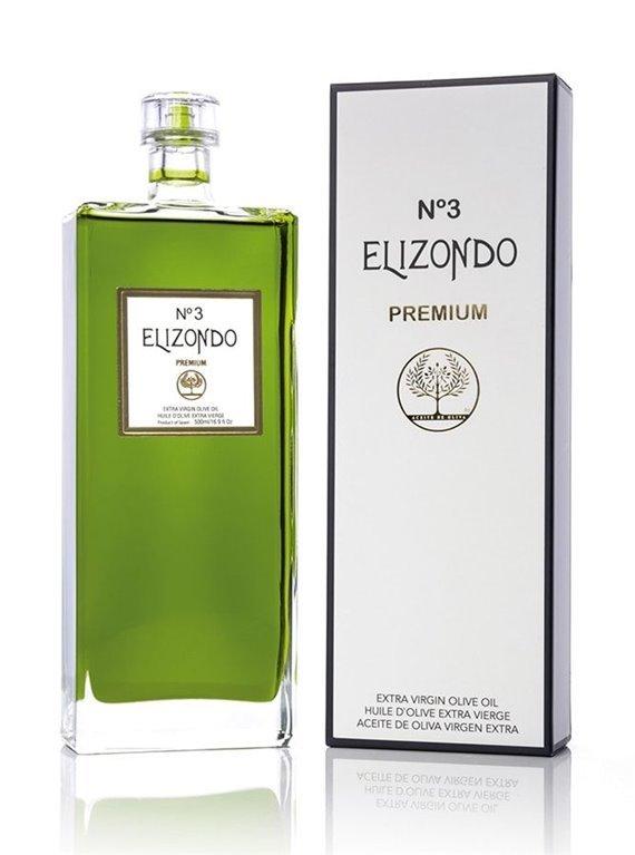 Elizondo N.3. Aceite de oliva Picual. 500 ml, 1 ud