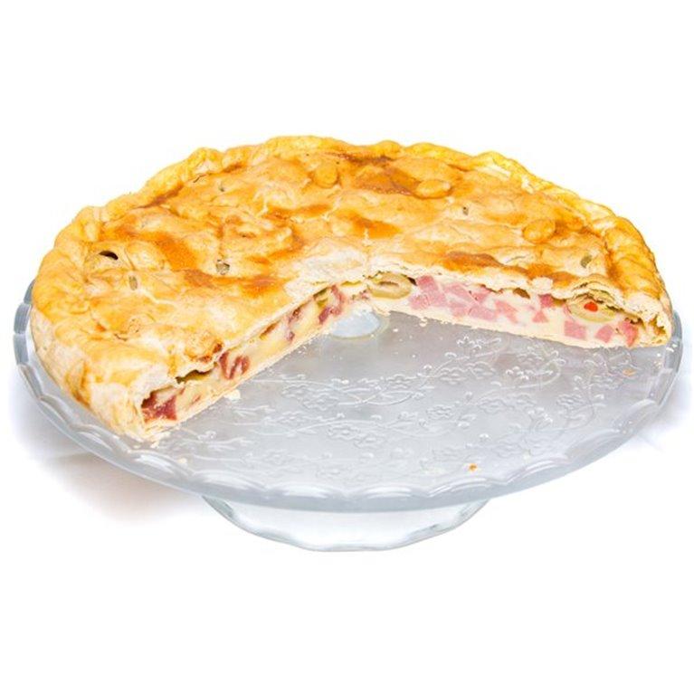 Empanada de pavo, queso y aceitunas