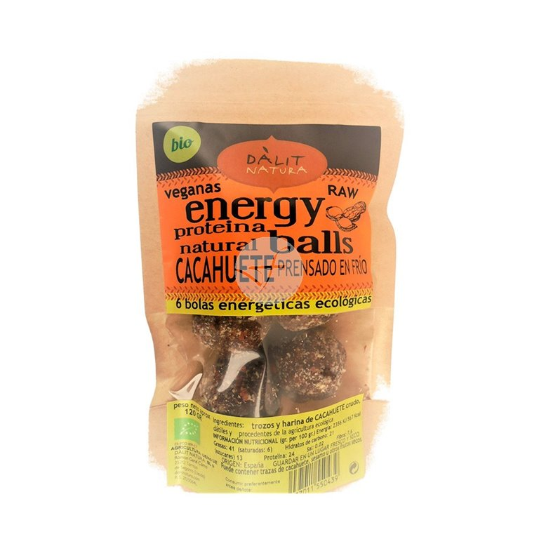 Energy Balls Raw con Cacahuete Bio 120g