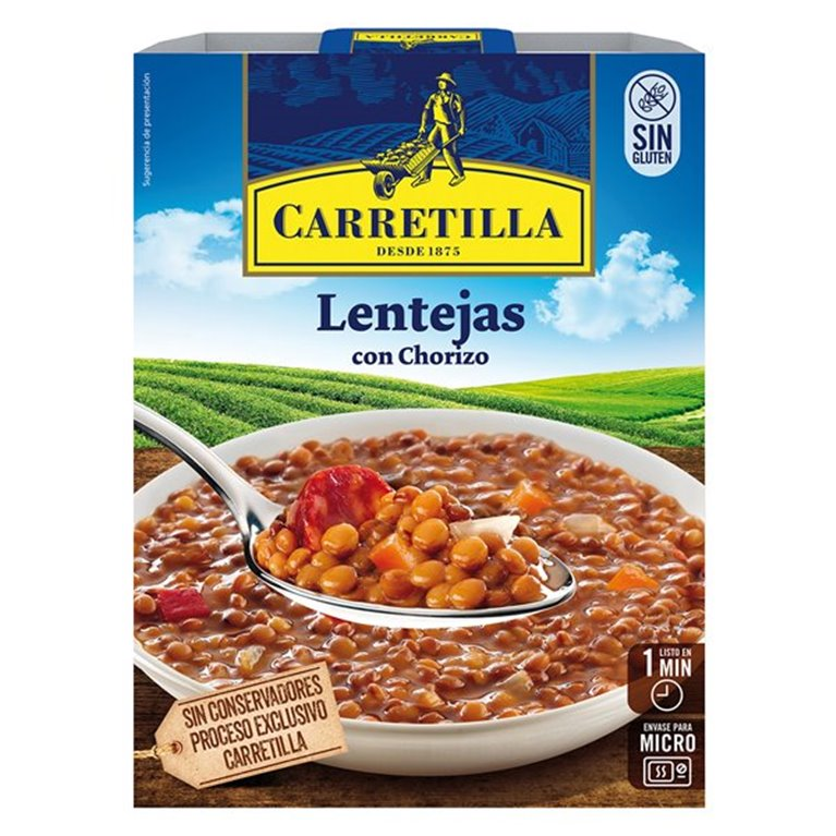 Carretilla - Lentejas con chorizo, 1 ud