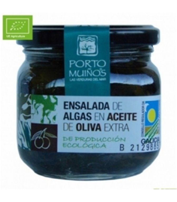 Ensalada de algas en Aceite de Oliva (cristal) C212. Porto-Muiños. 12un.