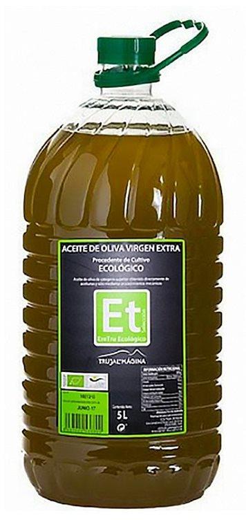 Eretru. Aceite de Oliva Ecológico. 3 Garrafas de 5 Litros, 1 ud