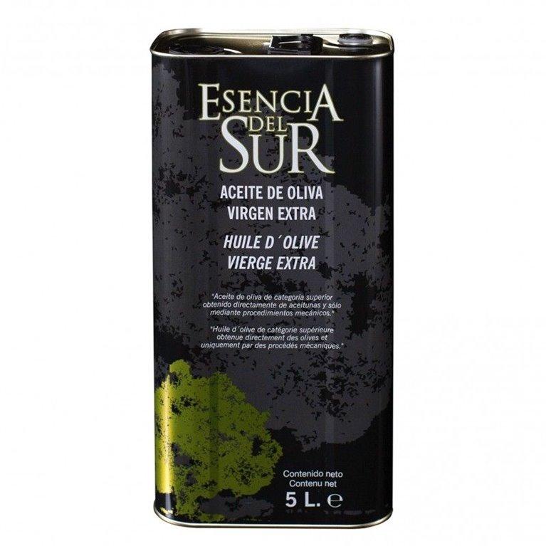 Esencia del Sur. Aceite de oliva Picual. 4 Latas de 5 Litros