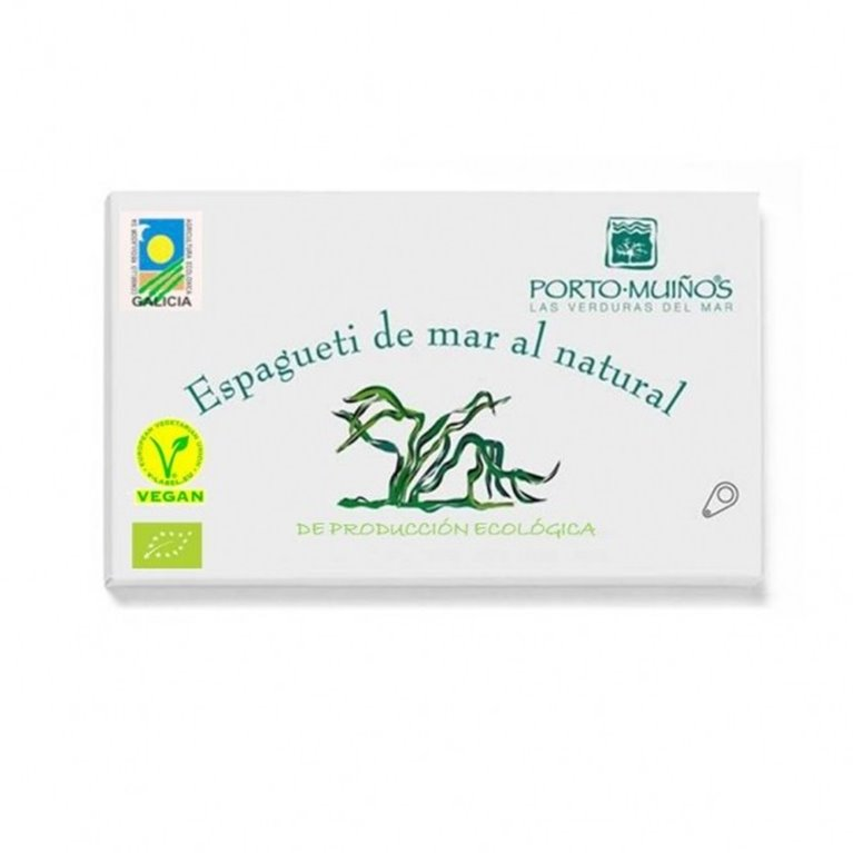 Espagueti de mar al natural vegan, 90 gr
