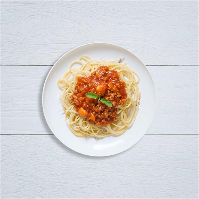 Espaguetis a la boloñesa vegana