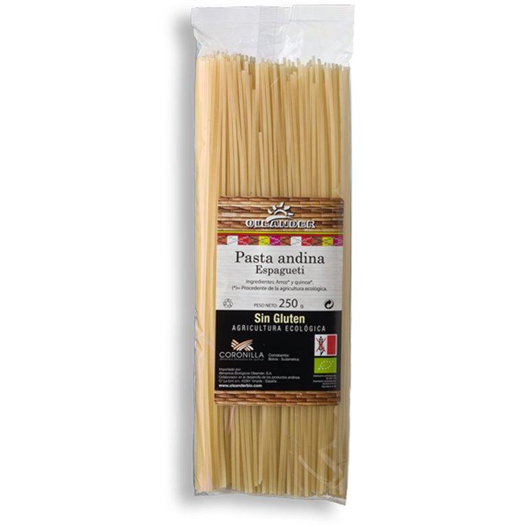 Spaghetti Andino de Arroz y Quinoa Sin Gluten Bio 250g, 1 ud