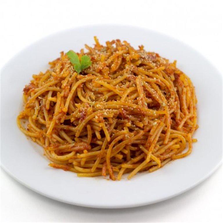 Espaguetis Sin Gluten con Tomate