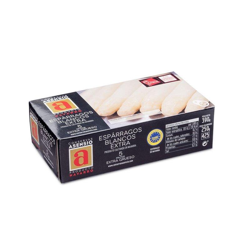 Espárragos Blancos 5 frutos Extra 1/2 kg (390 gramos) Extra Grueso