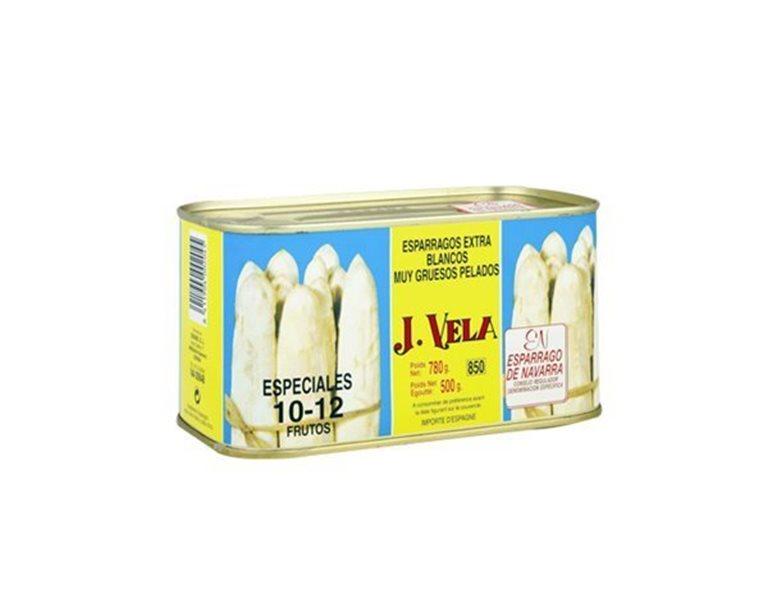 Espárragos blancos extra 10-12 uds, peso neto 780 gr.