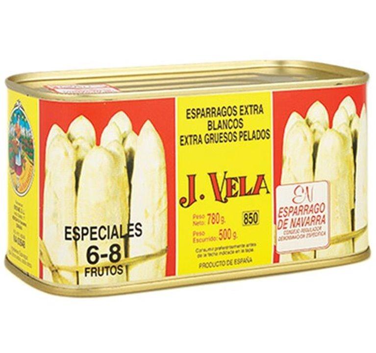 Espárragos Blancos Extra 6-8 Fr. 1 Kg.