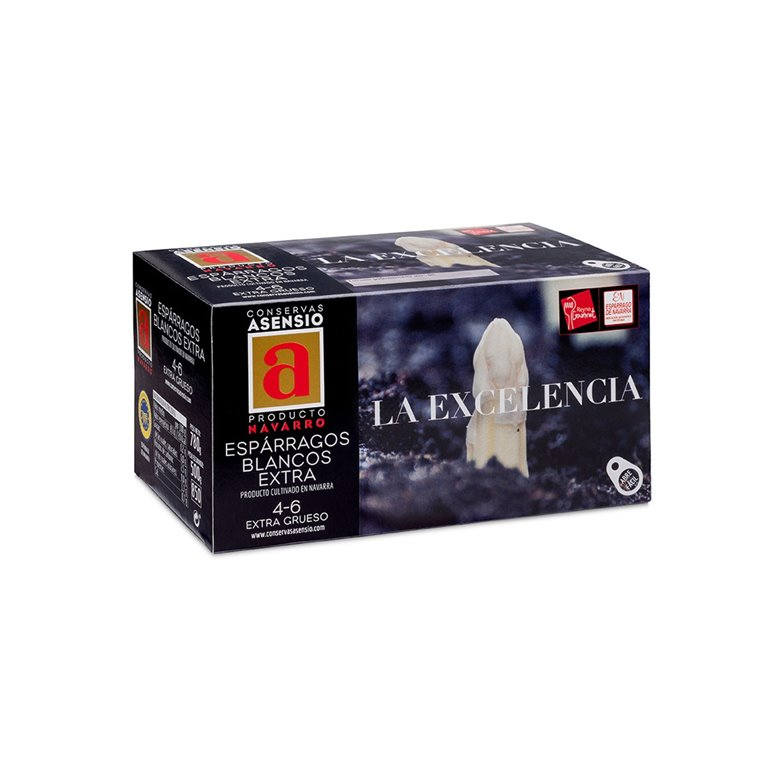Esparragos blancos navarra 4-6 frutos LA EXCELENCIA 500 g