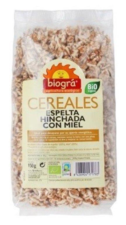 Espelta Hinchada con Miel Bio 150g, 1 ud