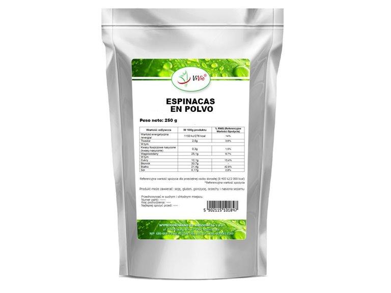 Espinacas en polvo 250g