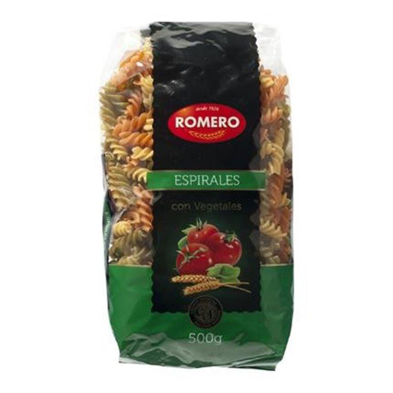 Espirales con vegetales Pastas Romero