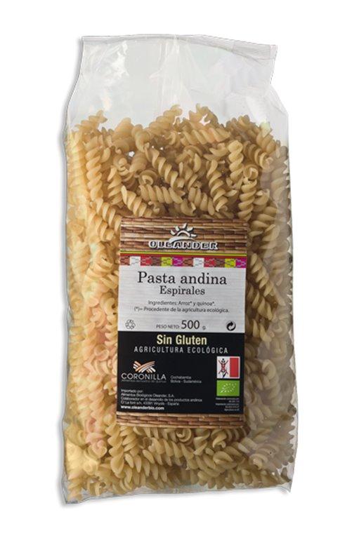 Espirales de pasta andina, 500 gr