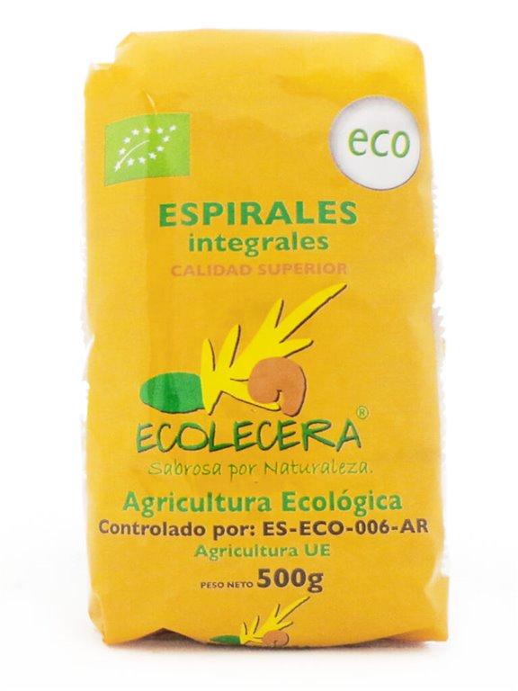 Espirales Integrales de Trigo Ecológicos, 500 gr