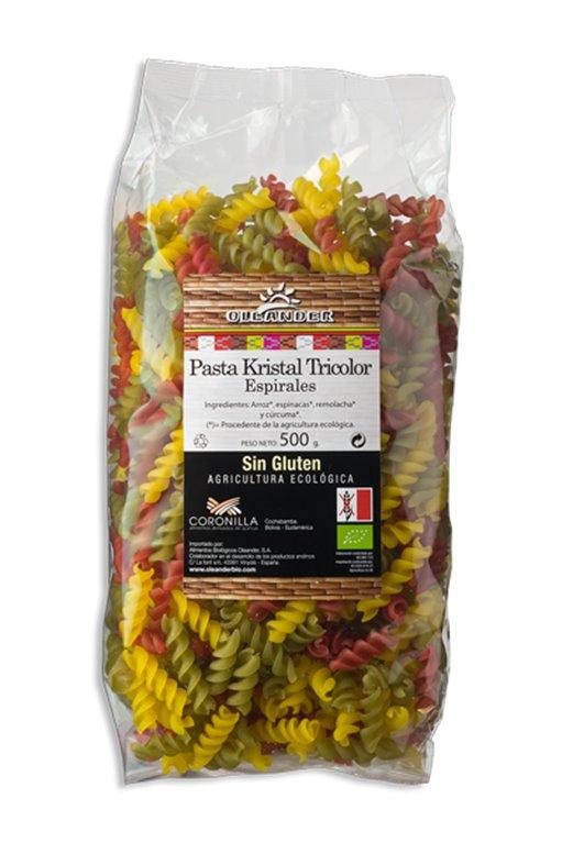 Espirales tricolor sin gluten, 500 gr