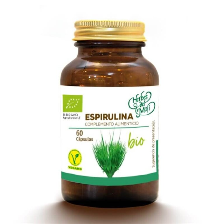 Organic Spirulina - 60 capsules - Herbes del moli