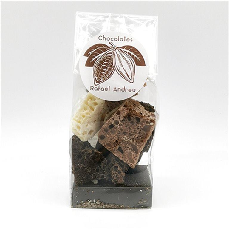 Esponjas de tres chocolates