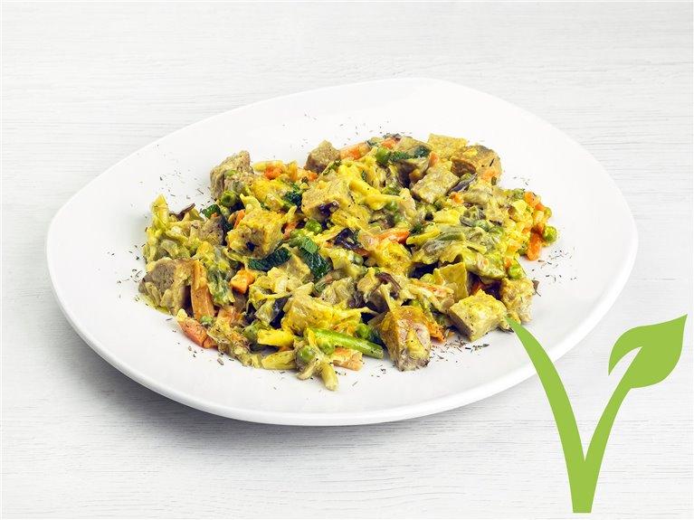 Estofado Verduras con Seitán y Curry