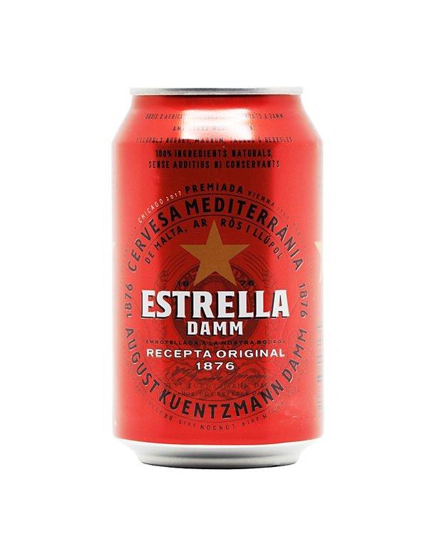 Estrella Damm 33cl can