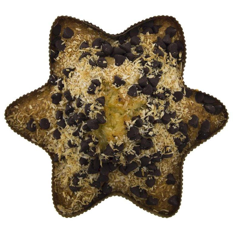 Estrella de Coco con Chocolate Ecológica 150gr, 1 ud